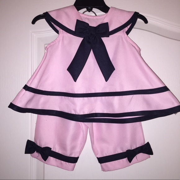Rare Editions Other - Rare Editions Baby Girl Pink Sailor Outfit